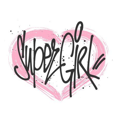 Super girl typography for print t shirt