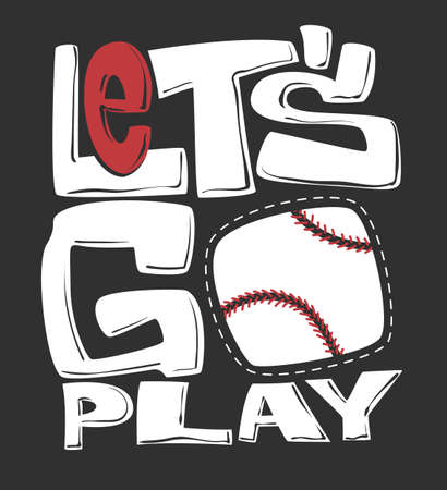 Baseball t-shirt graphics print design, vector illustration 矢量图像