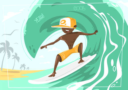 Big wave rider. Concept design of a summer holidays by the ocean