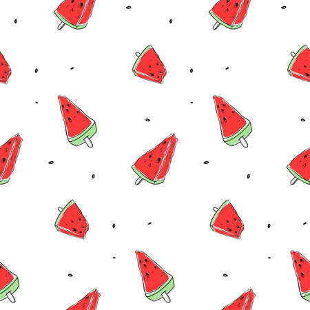 seamless pattern of fruit watermelon. Vector background
