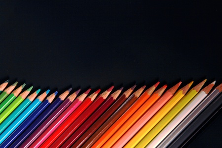 assortment of coloured pencils photo