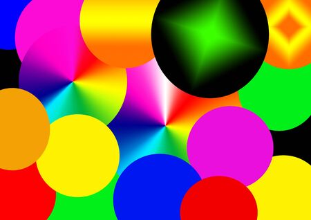 Circles colored abstract background Stock Photo