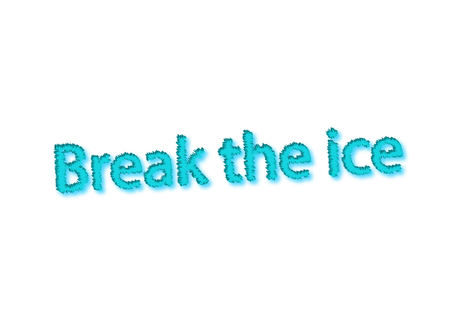 Illustration, idiom write break the ice isolated in a white background composition 写真素材