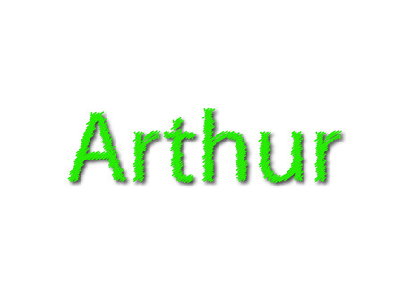 Illustration, name arthur isolated in a white background composition