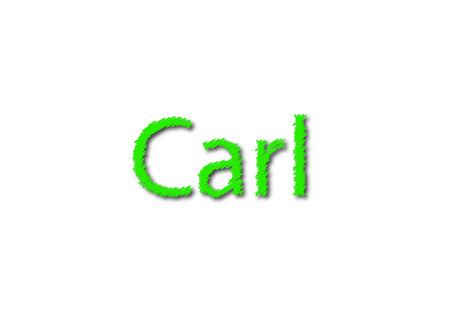 Illustration, name carl isolated in a white background composition