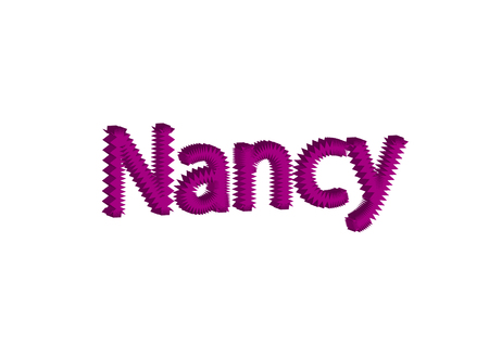 Illustration, name nancy isolated in a white background composition Stock Photo