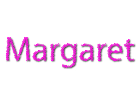 Illustration, name margaret isolated in a white background composition 写真素材