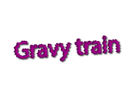 Illustration, idiom write Gravy train isolated on a white background. 스톡 콘텐츠