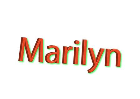 Illustration, name Marilyn isolated on a white background. Reklamní fotografie