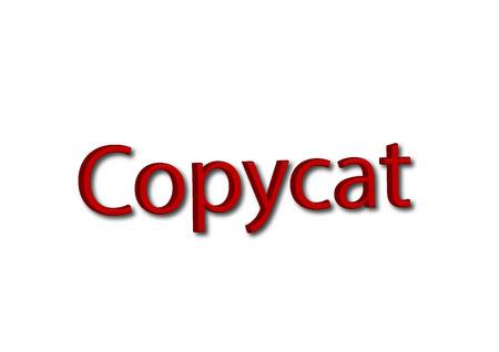 Illustration, write Copycat isolated on a white background.