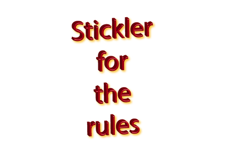 Illustration, idiom write Stickler for the rules isolated on a white background. 写真素材