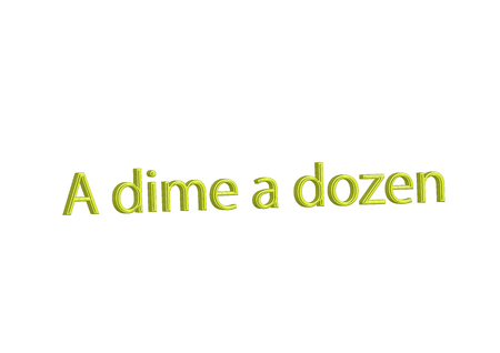 Illustration idiom write A dime a dozen isolated on a white background. 写真素材