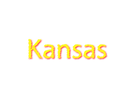 Kansas written illustration, American state isolated on a white background. Reklamní fotografie