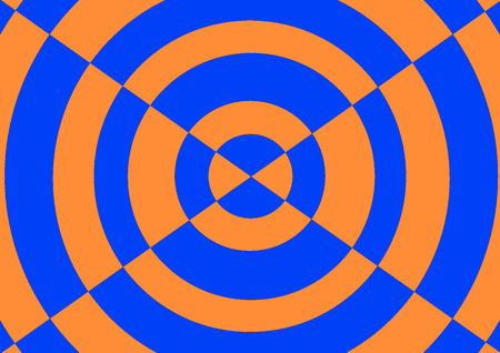 Blue and orange circle background composition