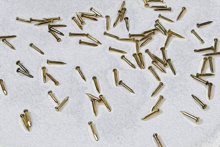 gold tacks in a white background illustration