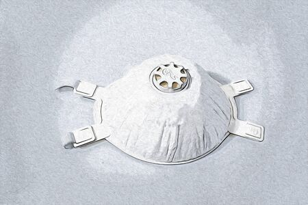 Mask for powder in a background composition illustration Stock Photo