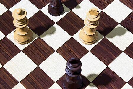 Chessboard composition illustration