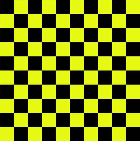 checker flag: Black and yellow checkered flag         Stock Photo