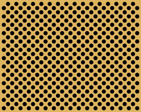 perforate: Perforate golden flat with black circles
