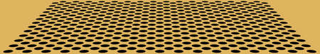 perforate: Perspective with perforate golden flat with black circles