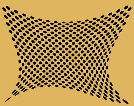 perforate: Op art with perforate golden background and black circles Stock Photo