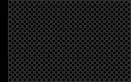 perforate: Perforate metallic gray flat with black circles and black frieze on the left side Stock Photo