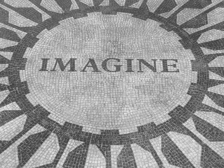 imagine: Imagine, John Lennon memorialsign, New York City