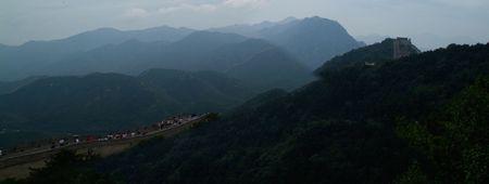 chinese wall: La sezione del badaling muraglia cinese vicino a Pechino