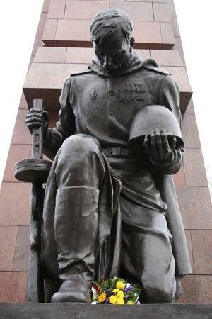 treptow: Soviet Memorial in Treptow Park in Berlin Stock Photo
