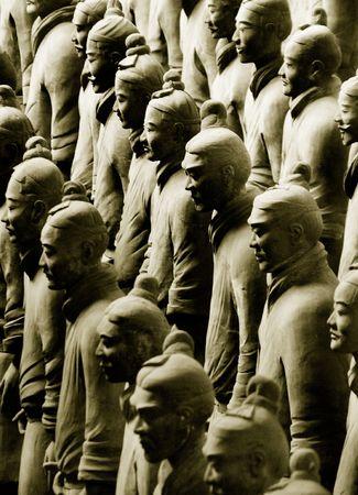 Terracotta Army near the city of Xian, China