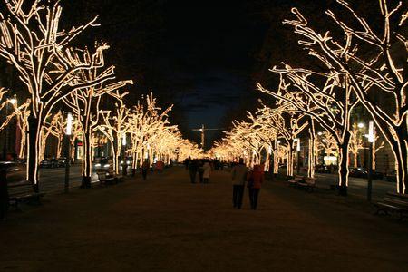 Unter den Linden in Berlin by night