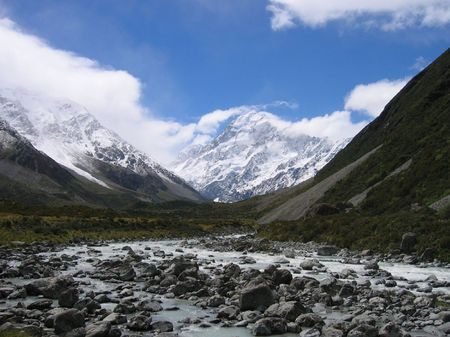 Mount Cook NP on the Southern Island of New Zealand Stock Photo
