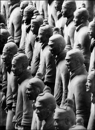 Terracotta Army near Xian, China Stock Photo