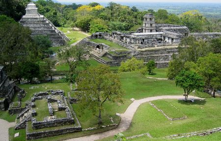 Ancient Maya temples in Mexico