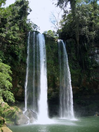 Waterfall in the wilderness of Mexico
