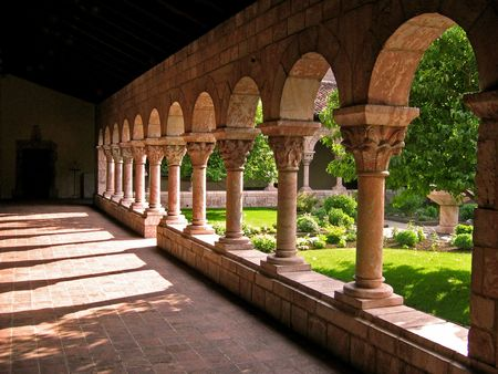 The Cloisters in New York City Stock Photo
