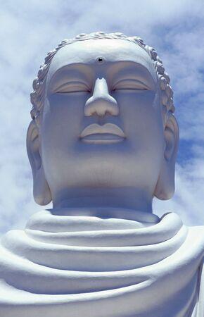 Giant white Buddha head in Natrang, Vietnam Stock Photo - 3731136