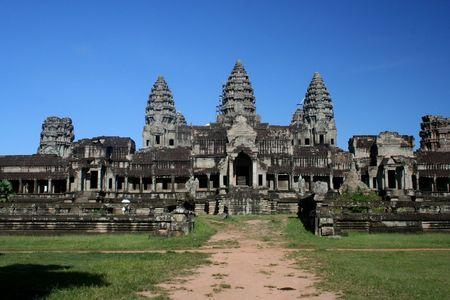 Temple at Angkor Wat in Cambodia