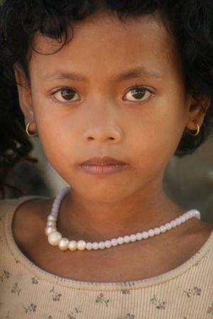 Siem Reap, Cambodia, September 6, 2008 - Cambodian Girl  Editorial