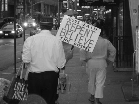 repent: New York City, USA, May 27, 2007 - Repent Believe