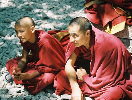 Lhasa, Tibet, August 1, 2006 - Tibetan Monks at the Sera monestary
