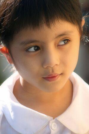 hue: Hue, Vietnam, August 20, 2008 - Vietnamese schoolgirl