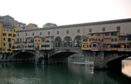 firenze: Ponte Vecchio in the city of Firenze, Italy Stock Photo