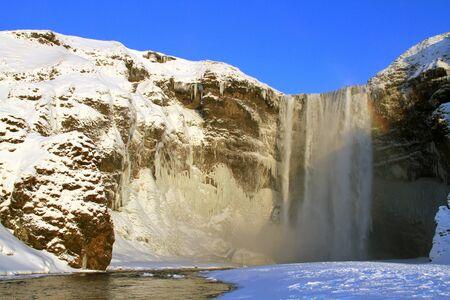 skogafoss waterfall: The Skogafoss Waterfall in Iceland