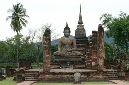 thai believe: Sukhothai in Thailand Stock Photo