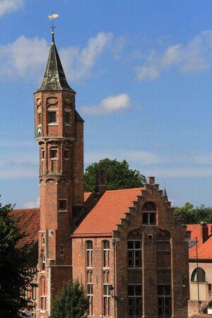 bruges: Tower in Bruges, Belgium Stock Photo