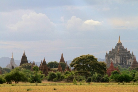 Temples at Bagan in Myanmar Stock Photo