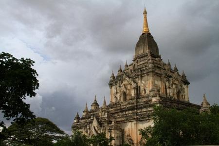 Temple at Bagan in Myanmar Stock Photo