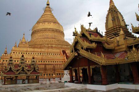 Golden Pagoda in Myanmar Stock Photo
