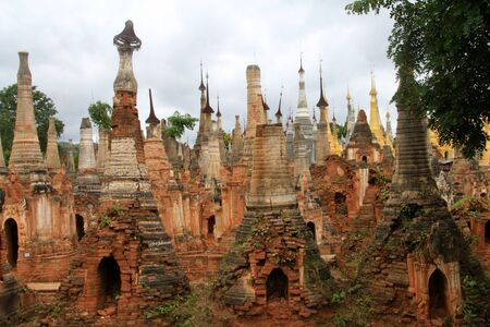 Pagodas in Myanmar Stock Photo